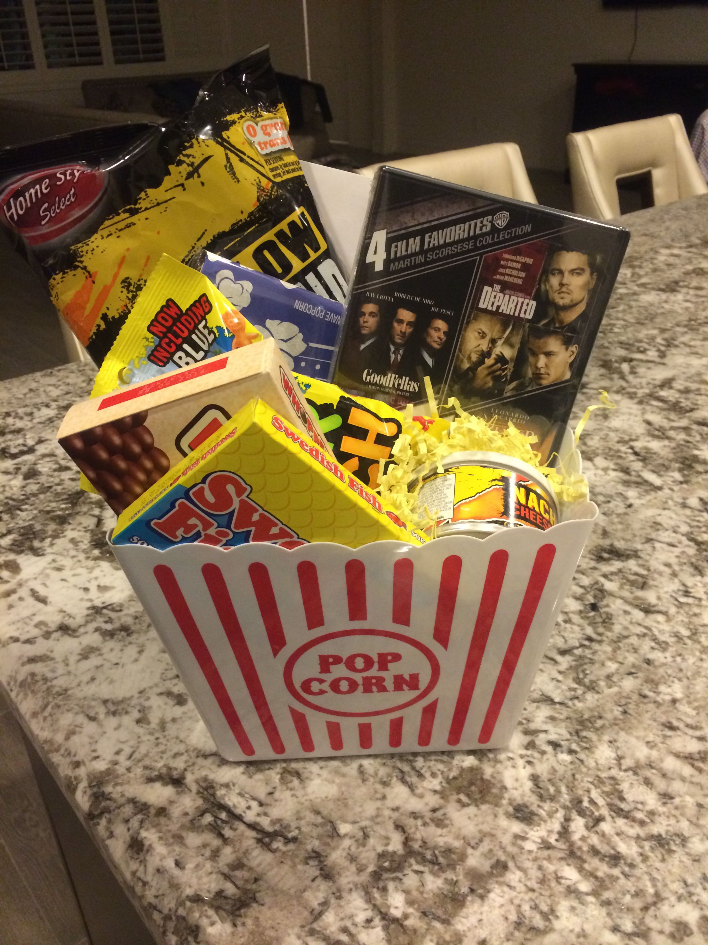 Movie Night Gift Basket Great For A Young Couple S Wedding Gift