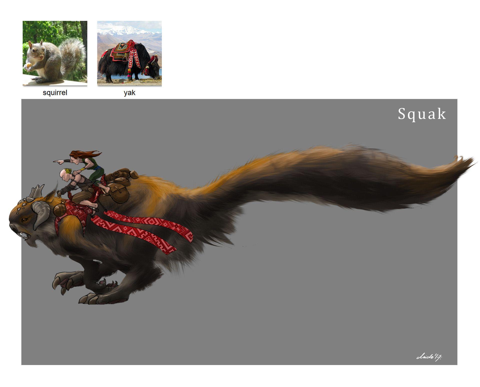 Artstation random creature mashup project 021 squak