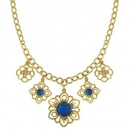 Summer Blue Blossom Necklace