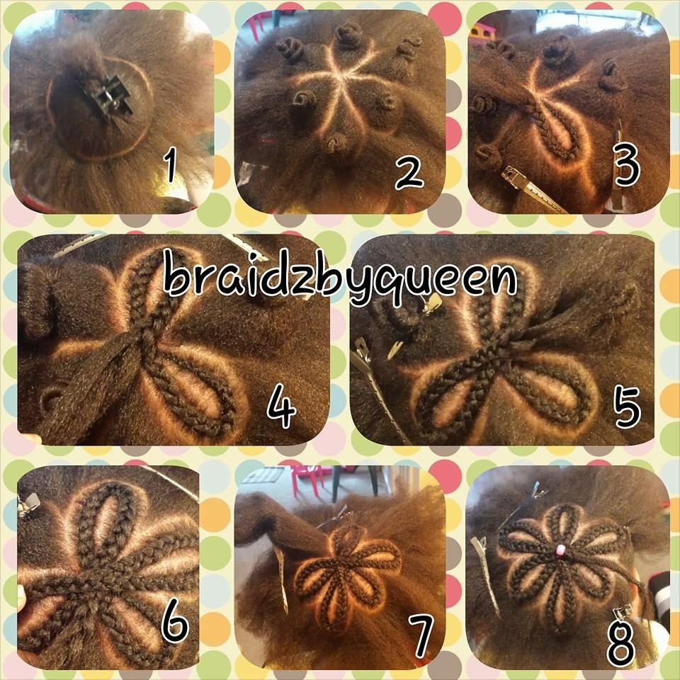 flower braid tut heart star braids