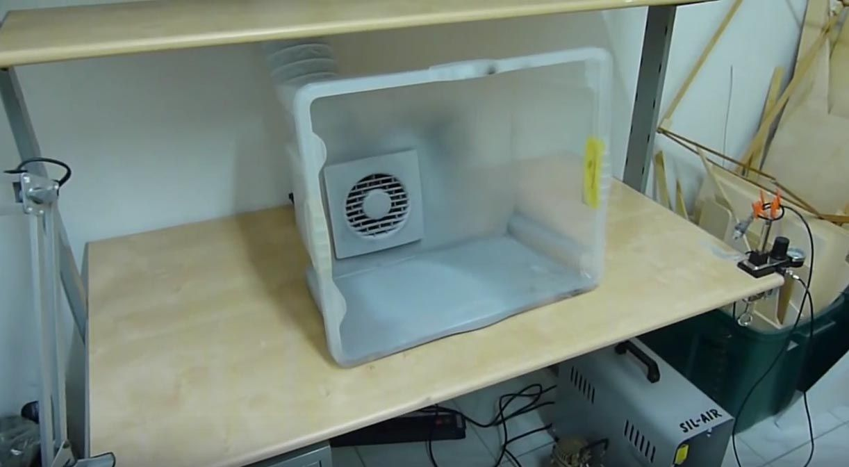 Build an easy and cheap tabletop spray booth diy paint