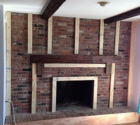 covering a brick fireplace with drywall use furring strips then rh pinterest com
