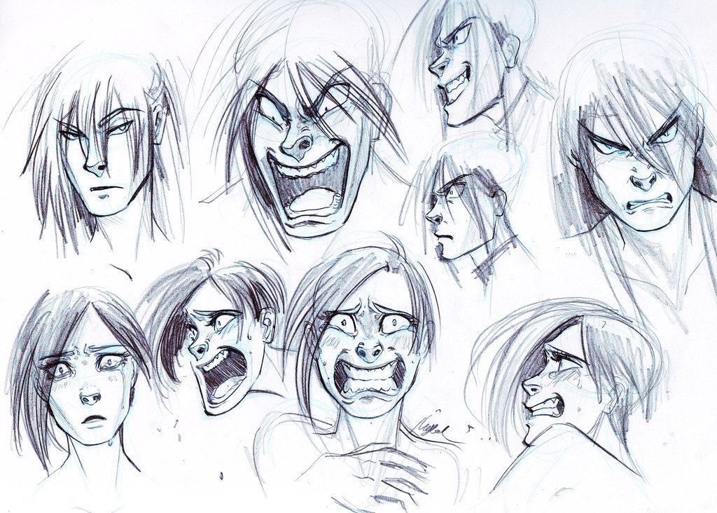 Trying Some Anger and Fear - Expressions by Myed89.deviantart.com on @deviantART