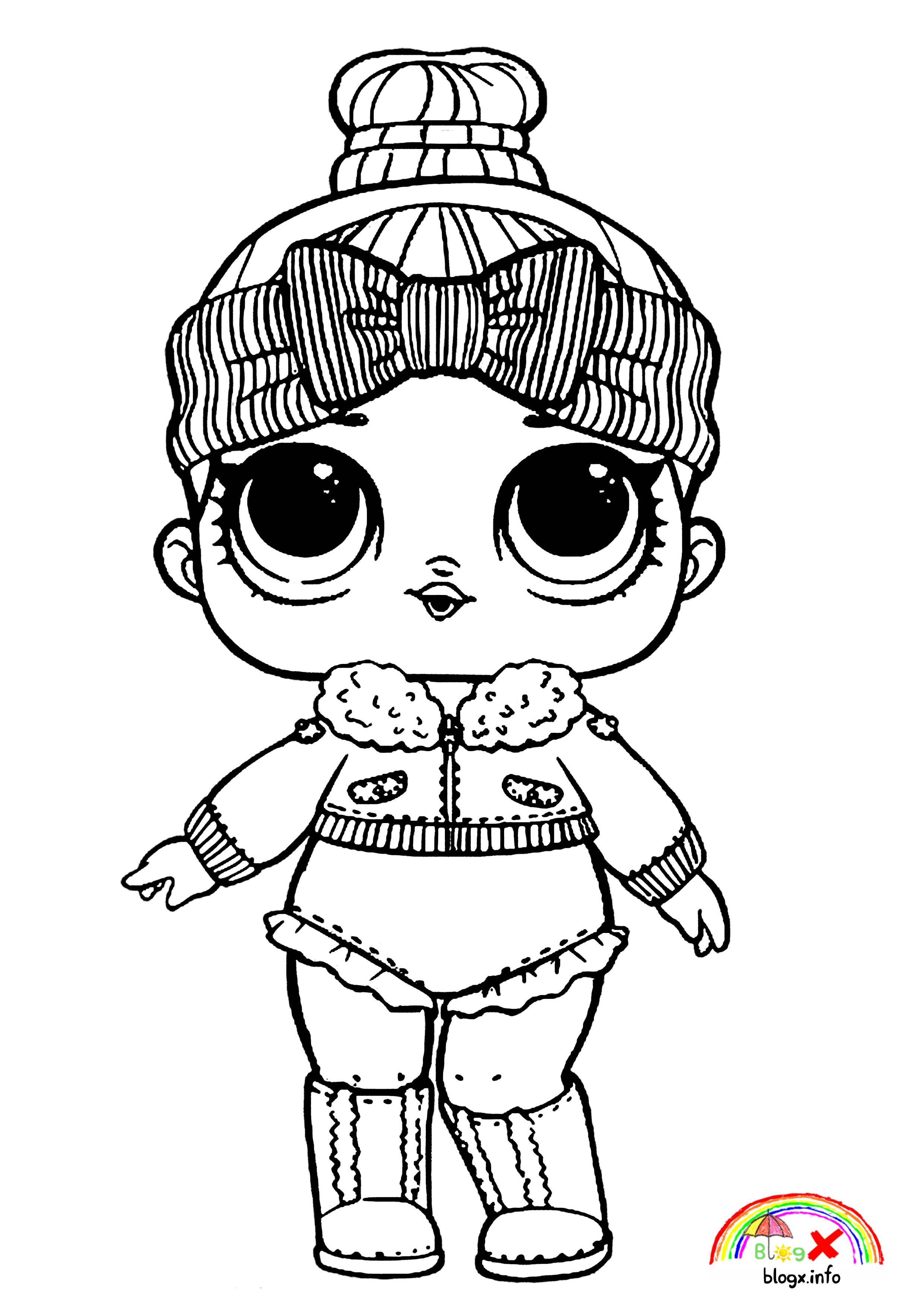 Winter Lol Dolls Coloring Pages Lol Dolls Cute Coloring Pages Coloring Pages