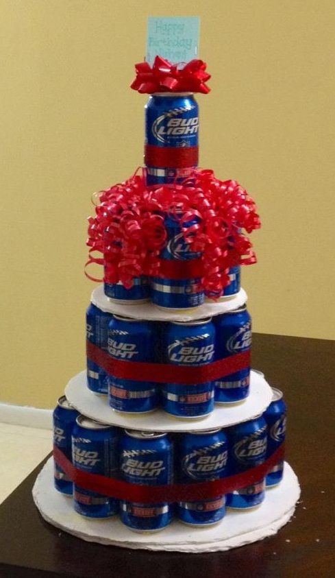 Perfect 21st Birthday Present Beer Cake Im going to make this