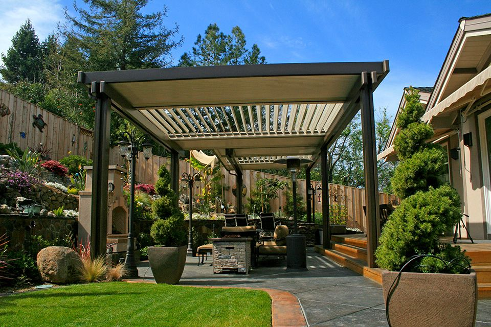 Louver Patio Cover | Apollo Opening Roof System | Cabana ...