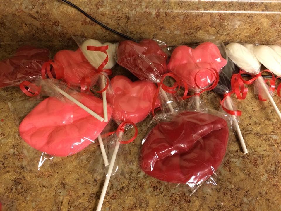 Lovelypops Valentine Lollipop White chocolate