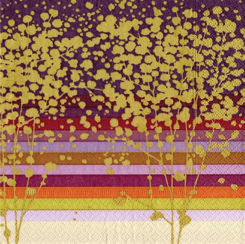 Napkins Paper Luncheon Modern Trees | Caspari 11040L