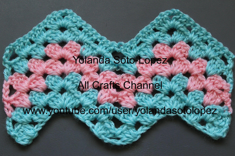 Crochet Granny Ripple Pattern | Crochet granny, Crochet and Diy crochet