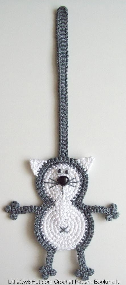 068 Cat Baton Bookmark Crochet pattern by LittleOwlsHut | Crochet ...