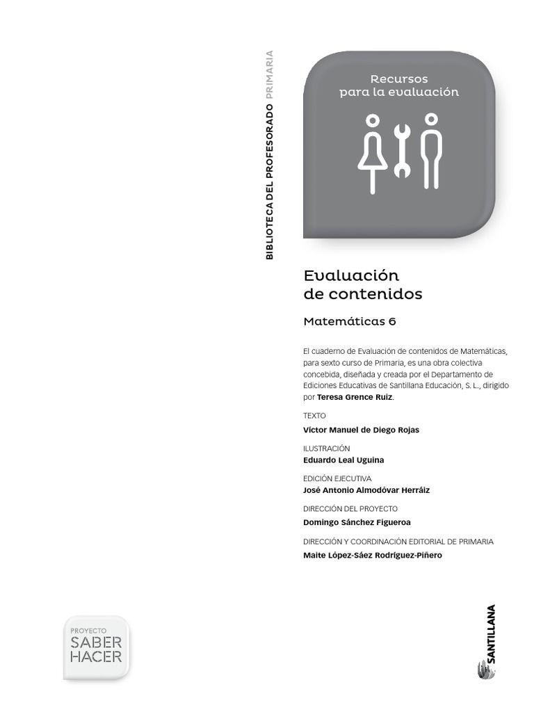 Exámenes De Mates De 6 Proyecto Saber Hacer Exámen De Matemáticas Primaria Matematicas Ciencias Sociales Primaria