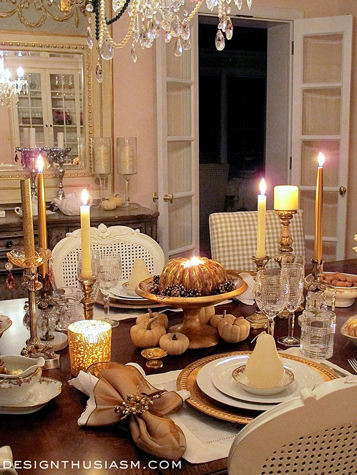 Setting your table with your very finest can make a romantic Thanksgiving dinner for two a special celebration that honors traditions in elegant style. & A Stroll Thru Life: 293rd Inspire Me Tuesday | Please Set the Table ...
