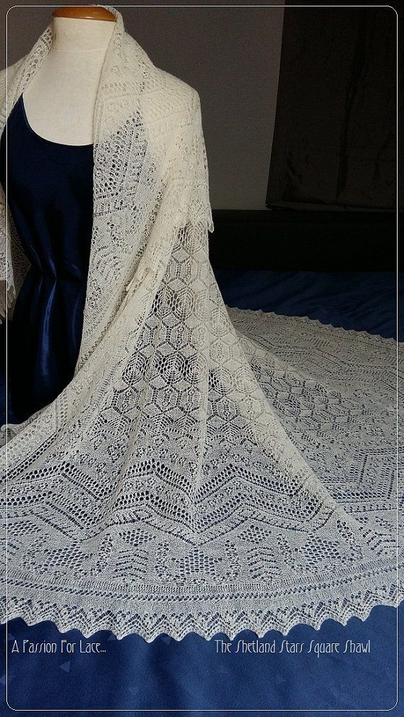 Claires Wedding Shawl Knitting Pattern from Outlander Series - Monique B...