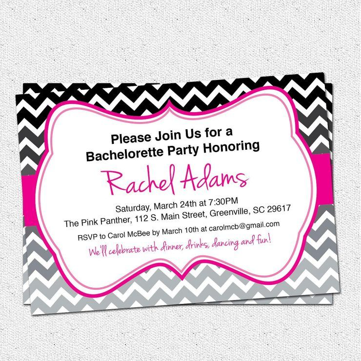 Greeting Bachelorette Party Invitations Printable Bachelor Party
