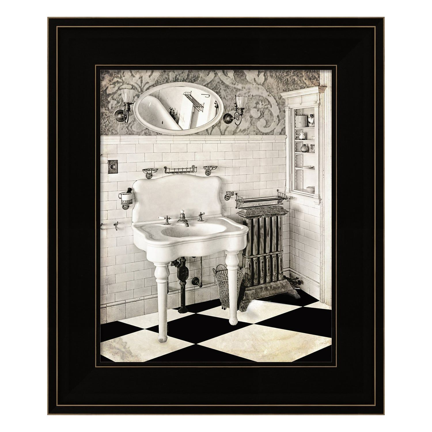Victorian Bathroom Framed Wall Art Bathroom Victorian Framed