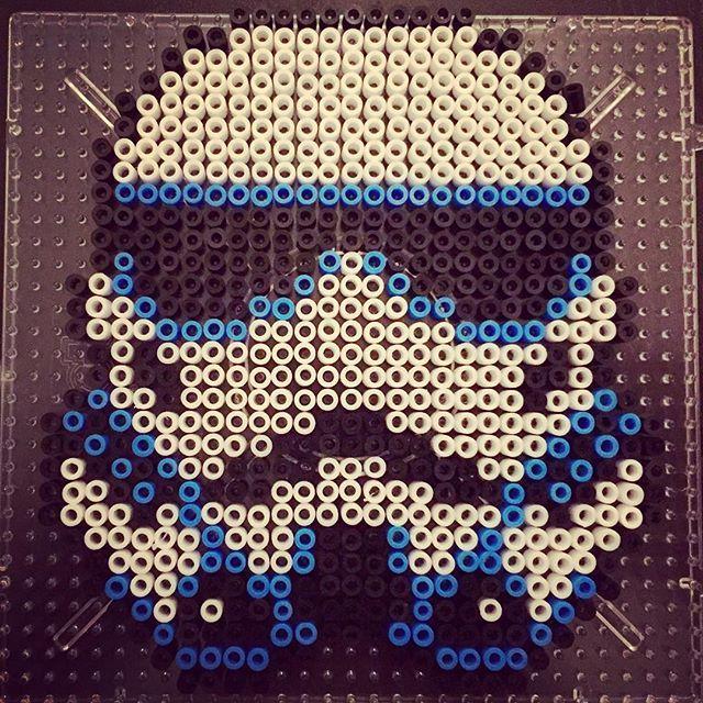 Stormtrooper Star Wars Mini Perler Beads By Kibbesnbits Mit