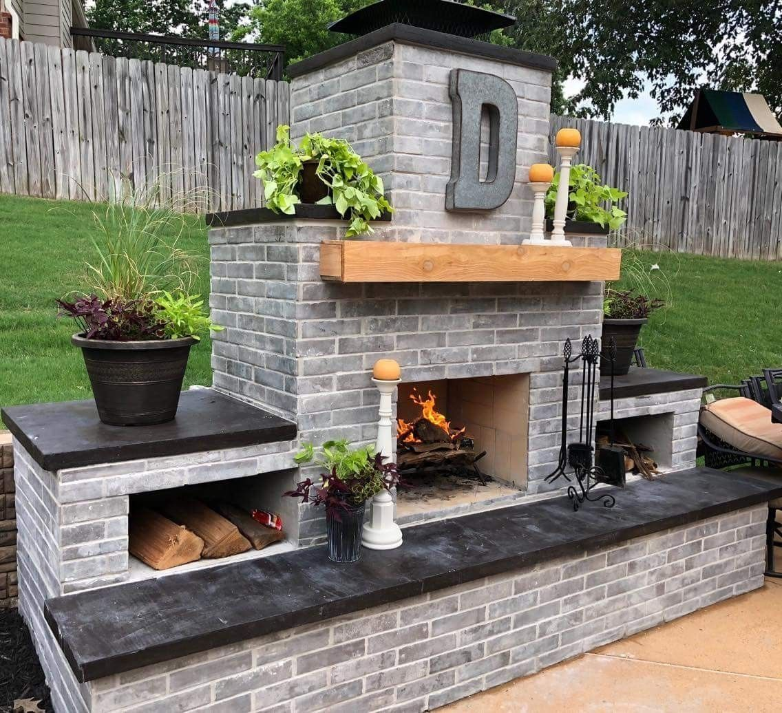 48 Best Outdoor Fireplace Ideas For Your Family Outdoor Fireplace Patio Backyard Fireplace Outdoor Fireplace Plans