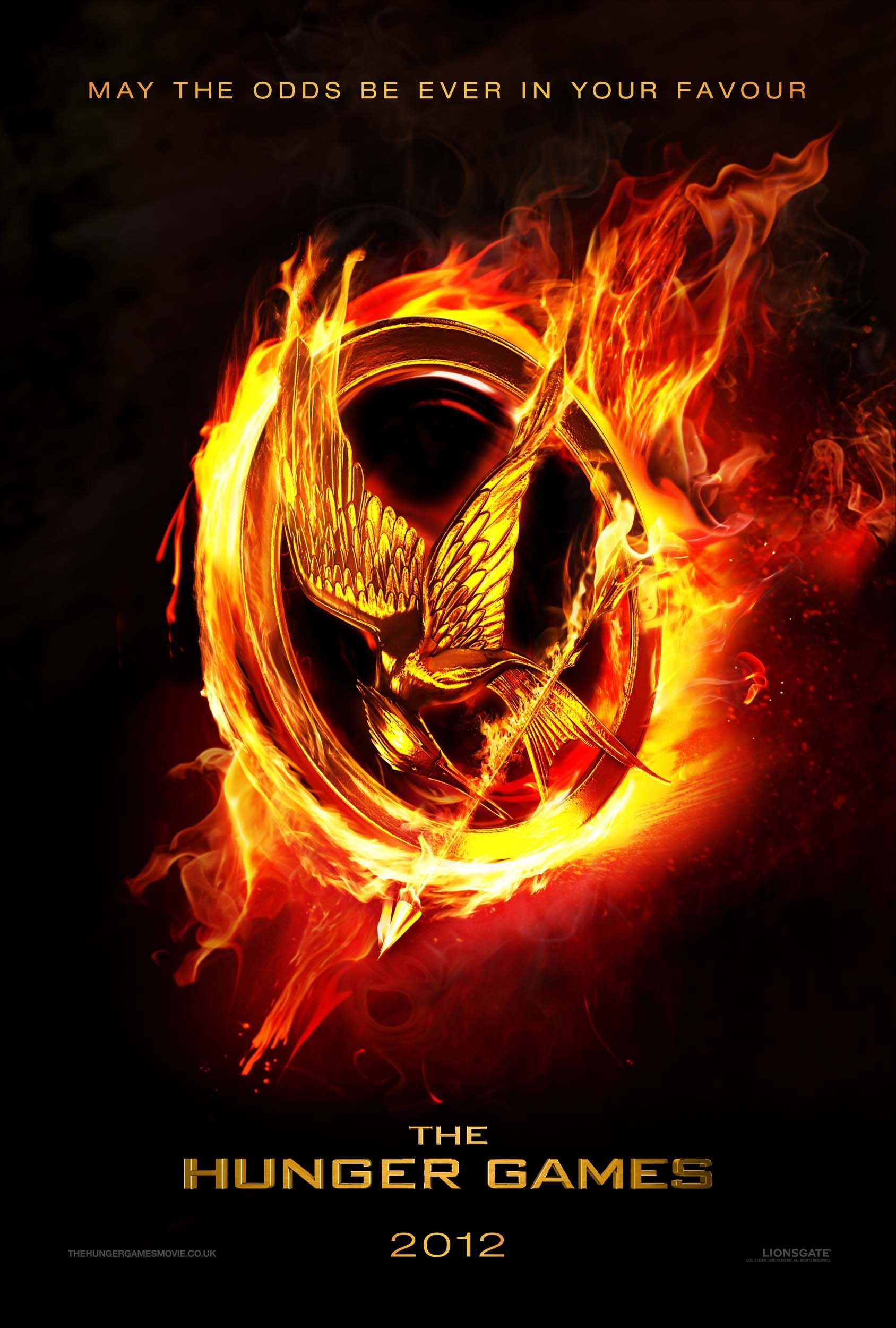 The Movie Poster Version Of The Mockingjay Pin Given To Katniss The Days She Volunteers To Take Prim S Hunger Games Books Hunger Games Movies Hunger Games 2012