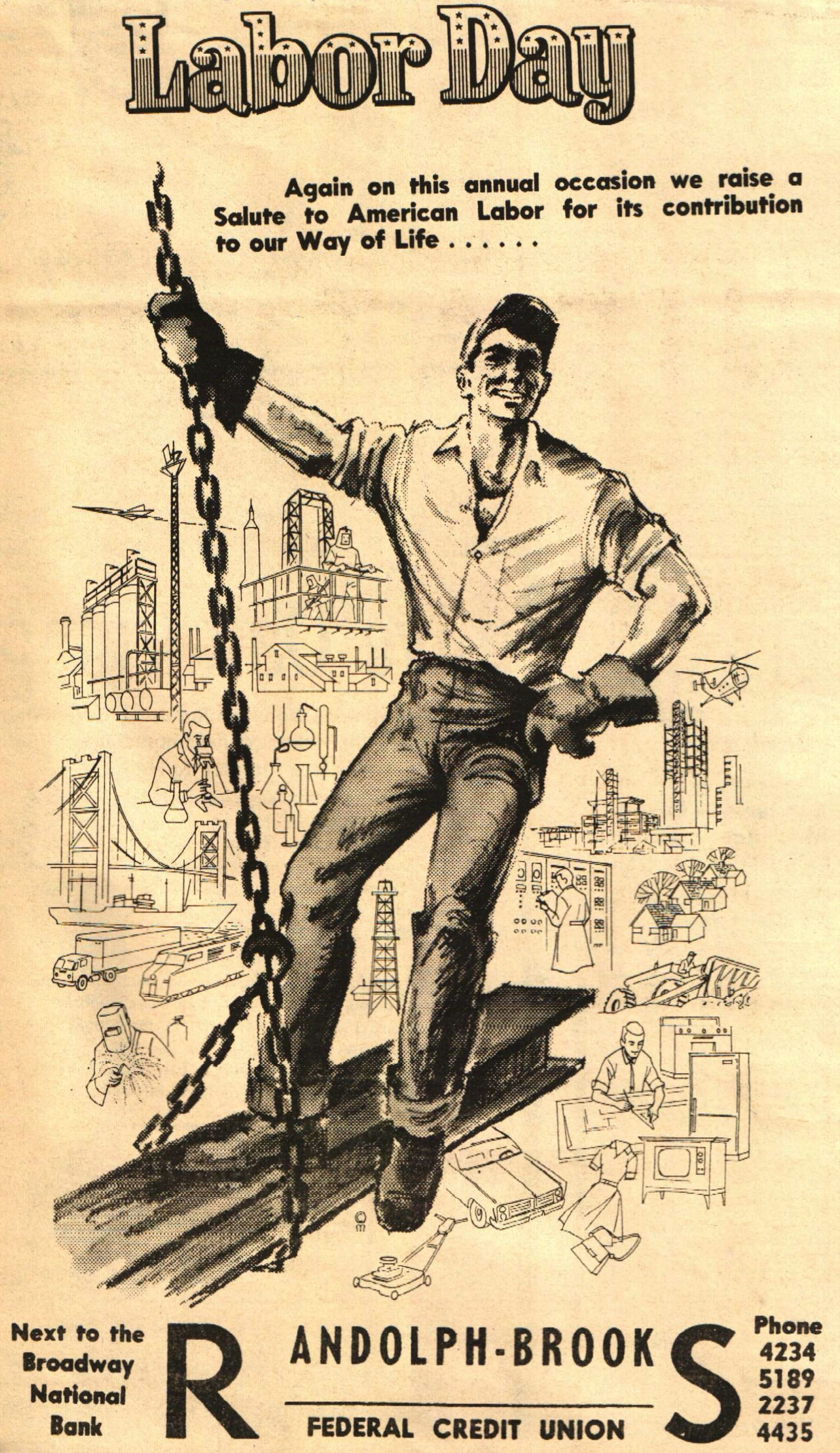 A Labor Day Ad We Created In The 1960s Vintageads Holidayads