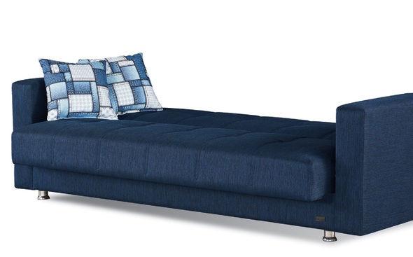 Miami Sofa Blue Fabric Sofa Sleeper Sofa Sofa Bed