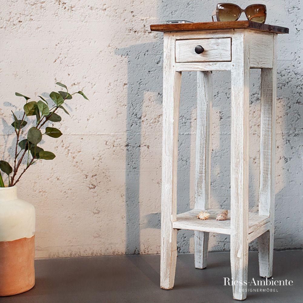 Landhaus Beistelltisch La Fleur 75cm Weiss Mahagoni Telefontisch Riess Ambiente De In 2020 Beistelltisch Tisch Telefontisch