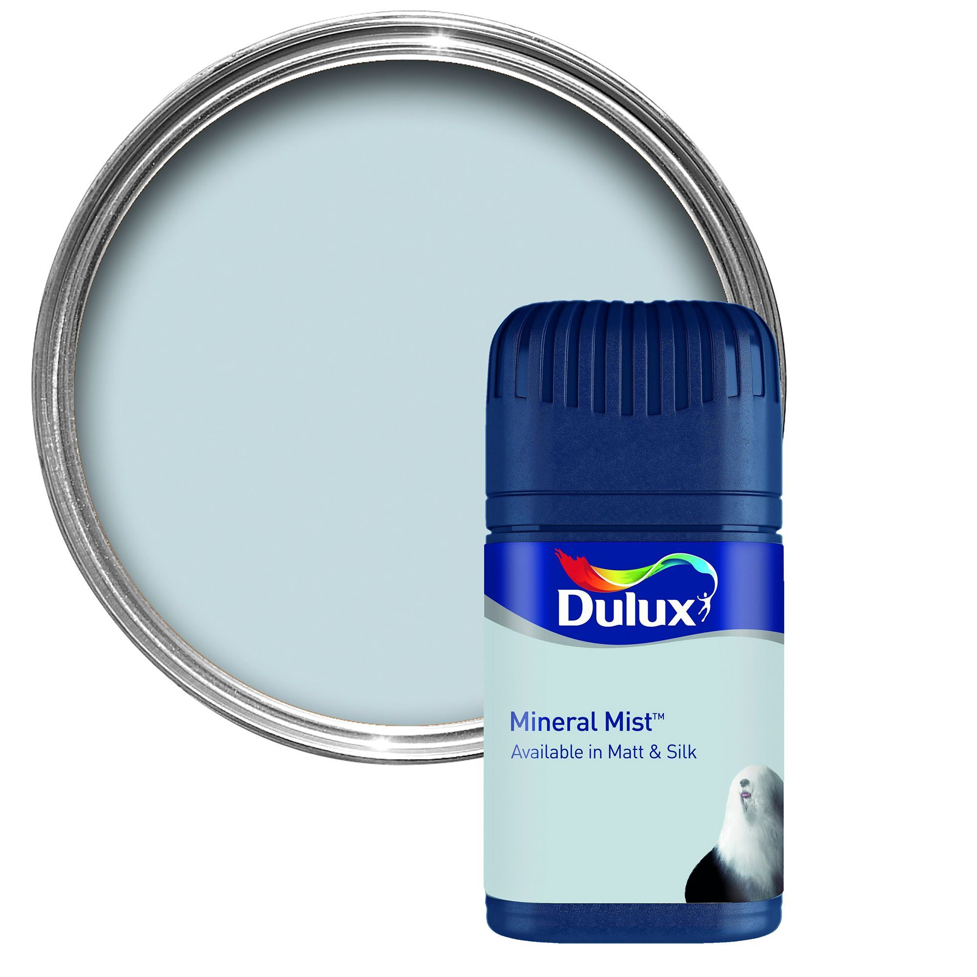 Dulux Mineral Mist Matt Emulsion Paint 50ml Tester Pot | Departments | DIY at B&Q