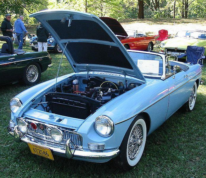 1964 Iris Blue Mgb With Images Vintage Sports Cars Classic