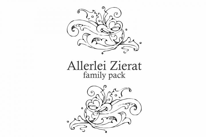 Download Allerlei Zierat (PACK 5 FONTS) (41078) | Dingbats | Font ...