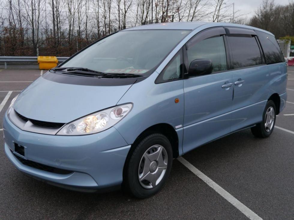 Japan Toyota Estima Hybrid car Imports in United Kingdom