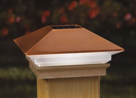 Light Up Your Deck Porch Or Mailbox With Our Solar Copper High Point Post Cap It