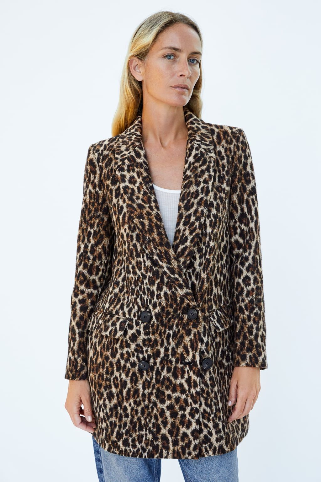 39a958f239ed Image 2 of LEOPARD PRINT JACQUARD COAT from Zara | {NEED TO BUY ...