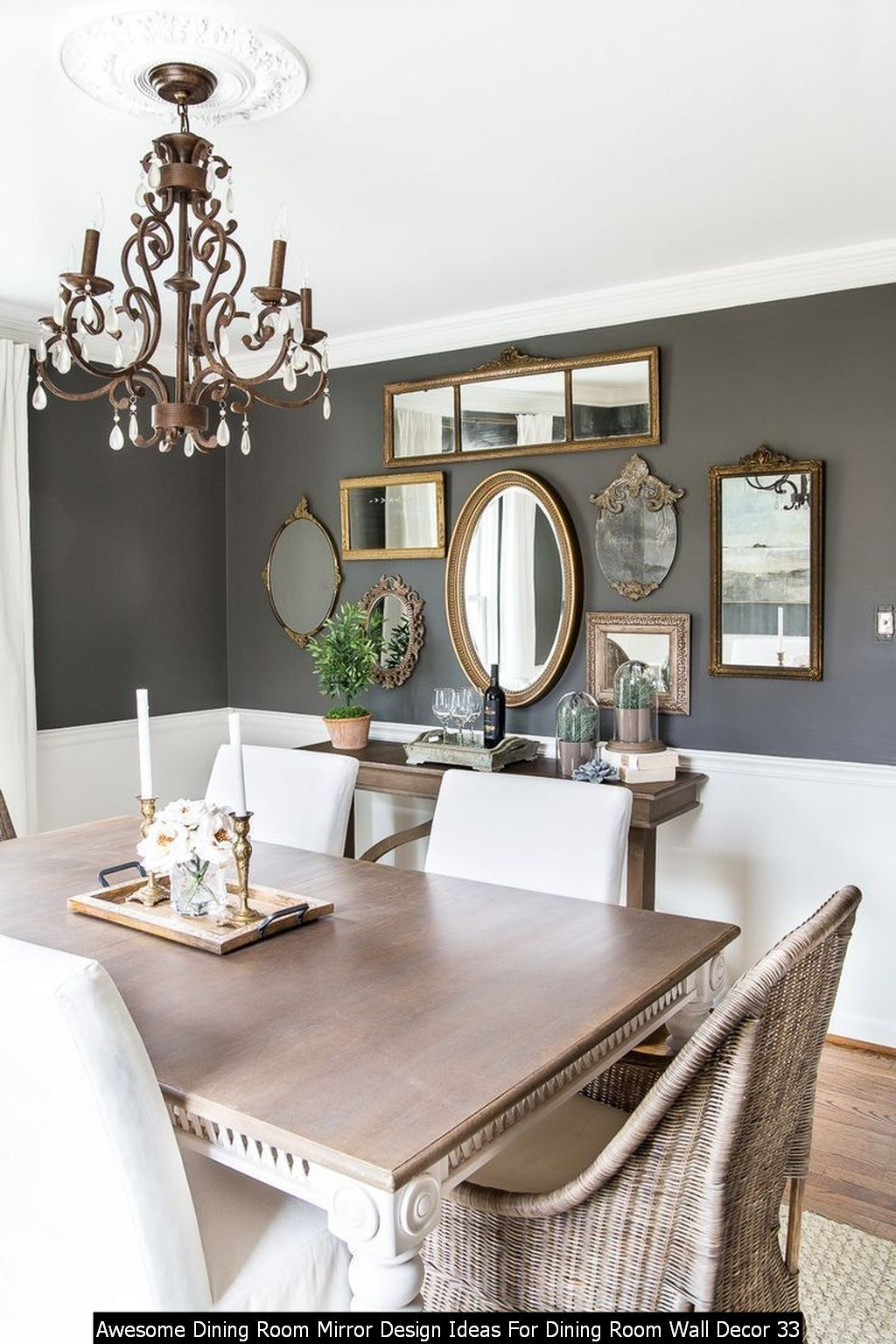 20 Awesome Dining Room Mirror Design Ideas For Dining Room Wall Decor Dining Room Mirror Wall Mirror Dining Room Trendy Dining Room