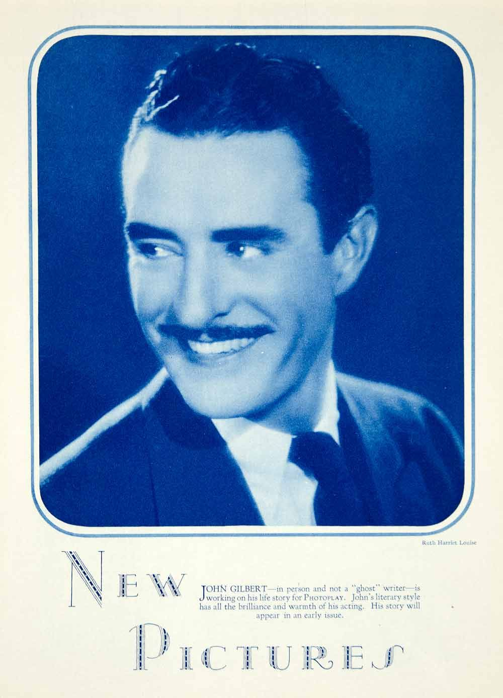 1928 Rotogravure John Gilbert Silent Film Actor Star Cecil Pringle Greta Garbo