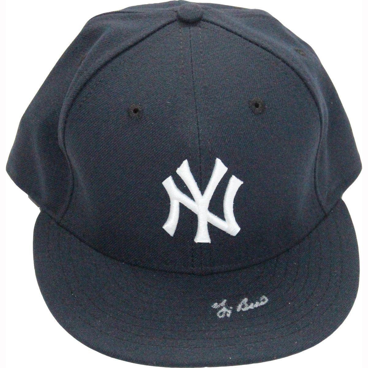 4a3f9ce7ac9 Yogi Berra Signed New York Yankees Hat ( MLB Auth) Size  7 3 8 ...