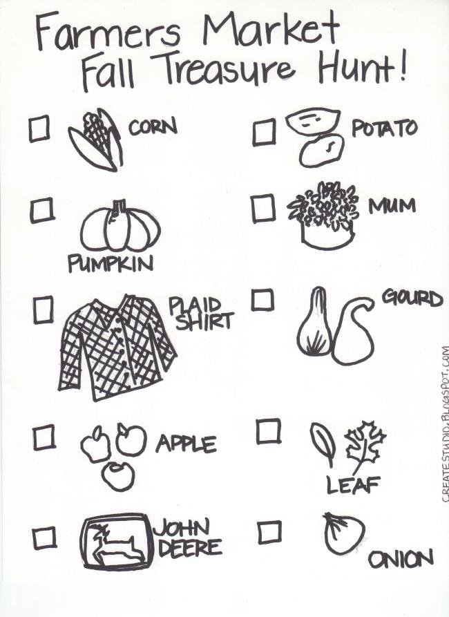 Fall Treasure Hunt.pdf Farmer, Farmers market, Marketing