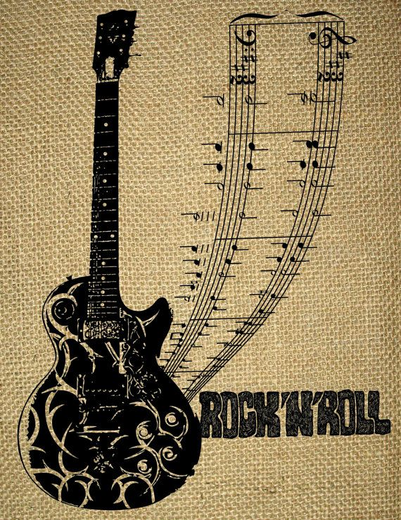Instant Download Music Genres Acoustic Guitar Music Notes Guitar Chords Rock 39 N 39 Roll Image Transfer Printab Music Genres Acoustic Guitar Music Music Art