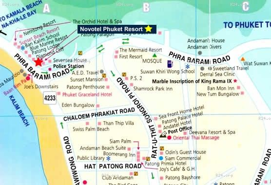 Patong Beach Hotel Hotels Et Resorts And Location Map
