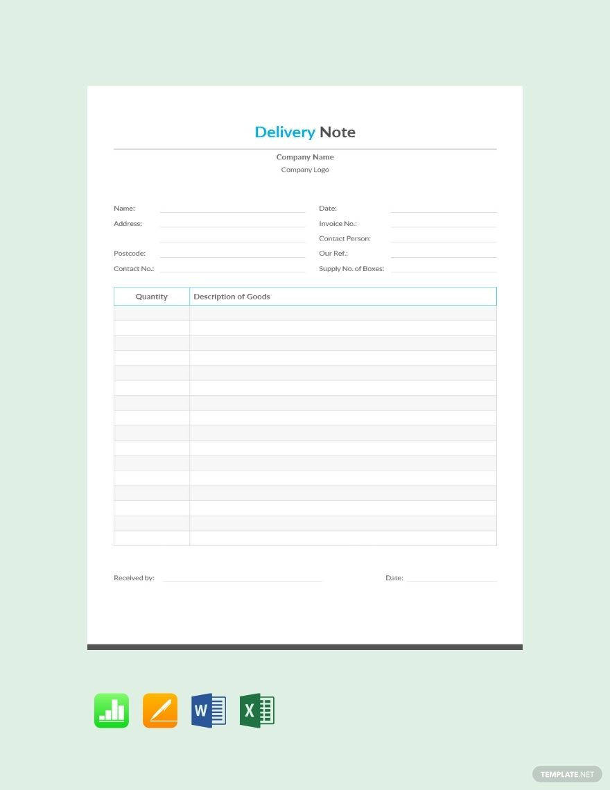 Free Simple Delivery Note Template Ad Sponsored Simple Free Delivery Template Note Notes Template Templates Free Cv Template Word