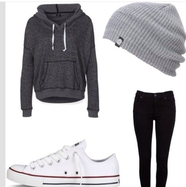 Image result for grey & white sweater outfits | Outfits ...