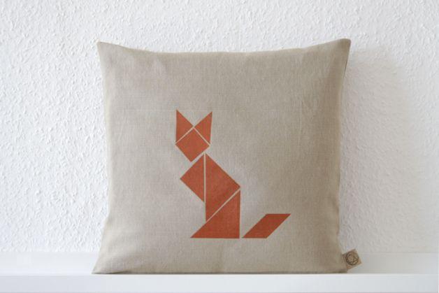 Kissenbezug Fuchs Tangram Fox Tangram Pillow Case By