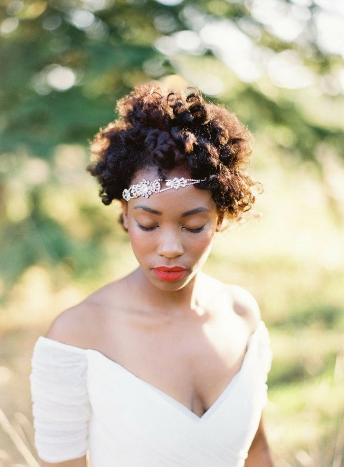 12 Short Hairstyles For Natural Hair Brides Wedding Ideas