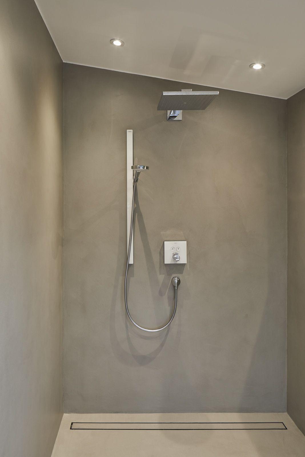 Schlichte Reduzierte Designer Regendusche In Grau Beton Foto Www Philipkistner Com Regendusche Dusche Badezimmer Gestalten