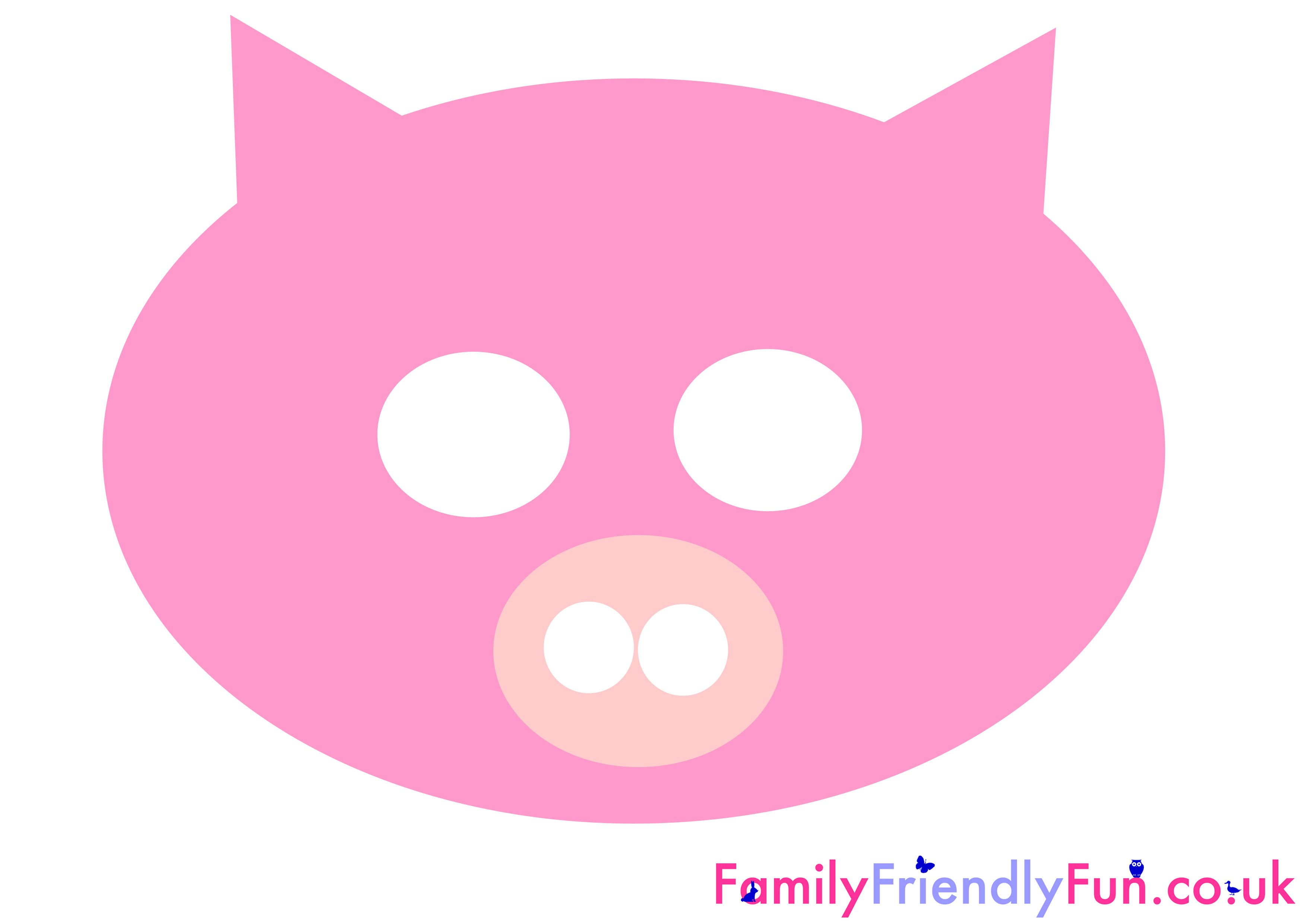 graphic about Printable Pig Mask named Pin as a result of Brooke Frederick upon Raegan bday Animal masks for