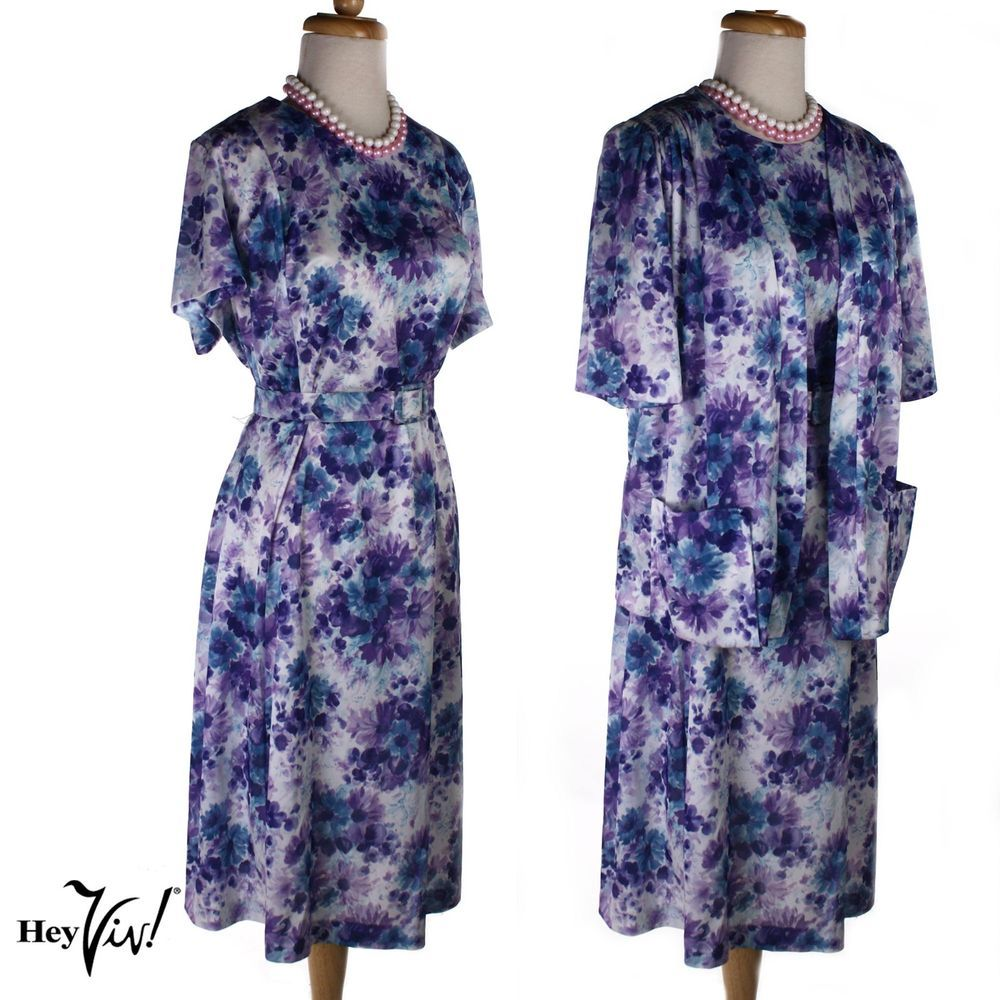 Lilacs in bloom piece vintage dress u jacket looks in sz