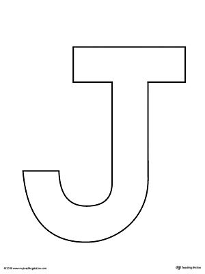 photo regarding Letter J Printable named Uppercase Letter J Template Printable VPK Lettering