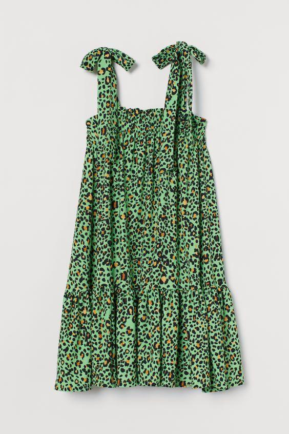 Kleid mit Schleife - Schwarz - Ladies | H&M DE in 2020 ...