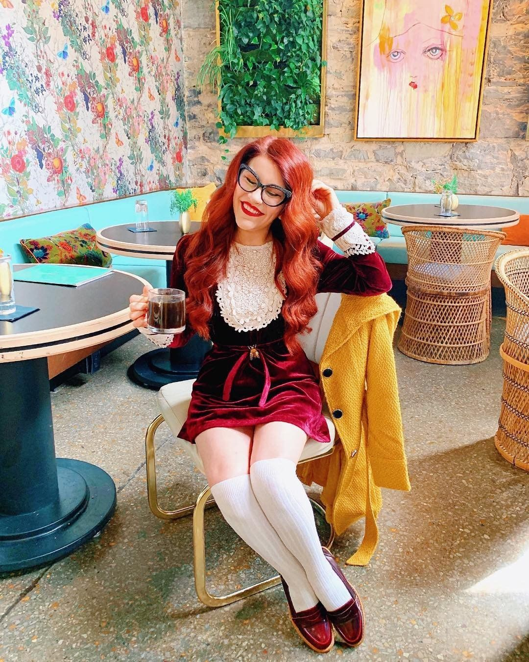 05682d986d50f ModCloth x Anna Sui X @modernjunecleaver in our Charisma Calls Velvet Dress
