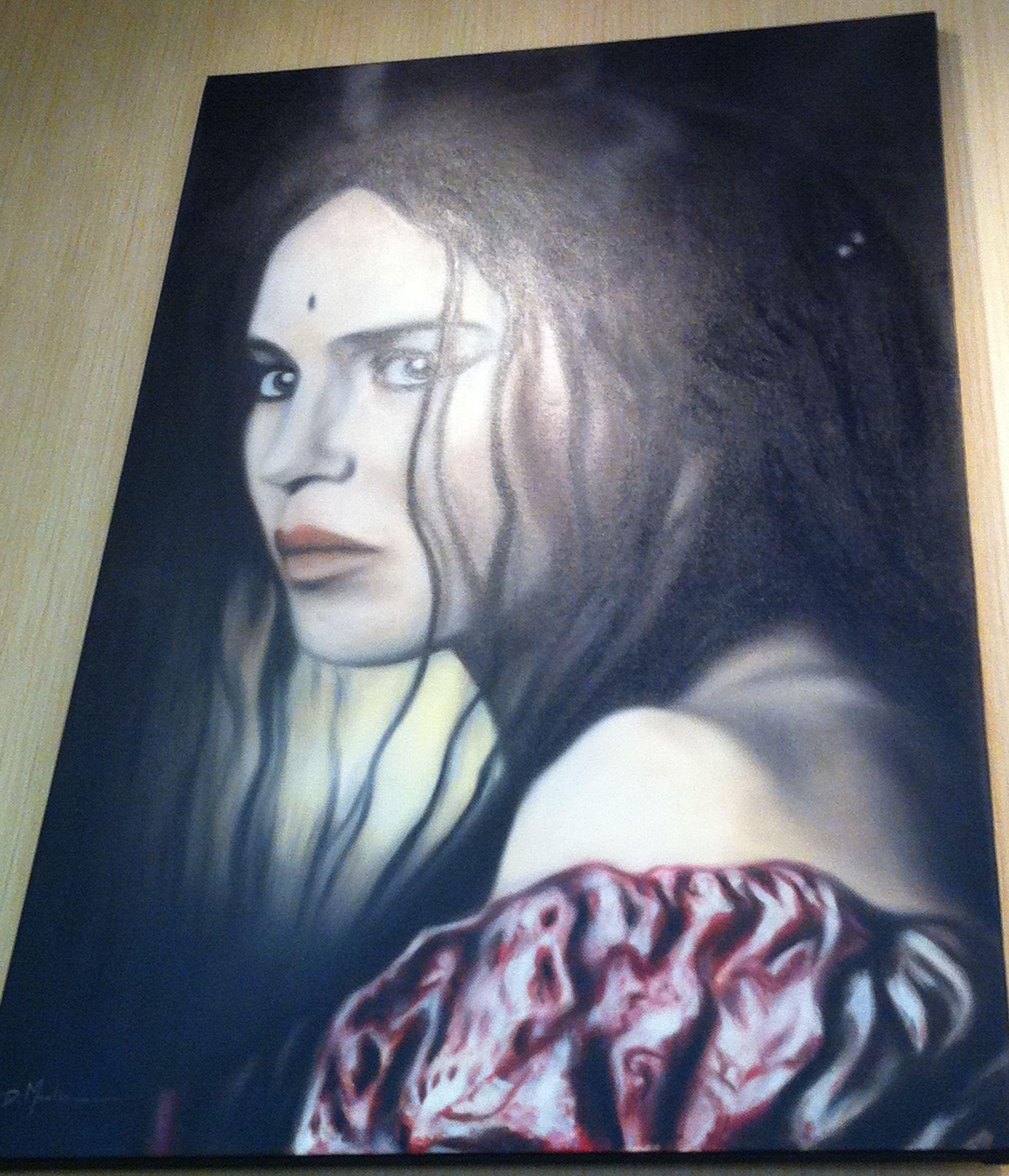 'La reine Margot'  Artiste Peintre David Merlin  www.dm-p.overblog.com