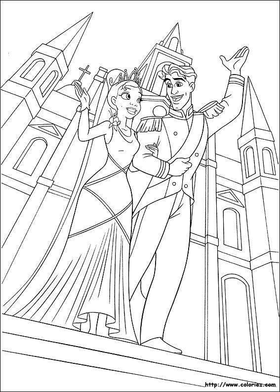 Coloriage La Princesse Et La Grenouille Princess Coloring Pages Frog Coloring Pages Cartoon Coloring Pages
