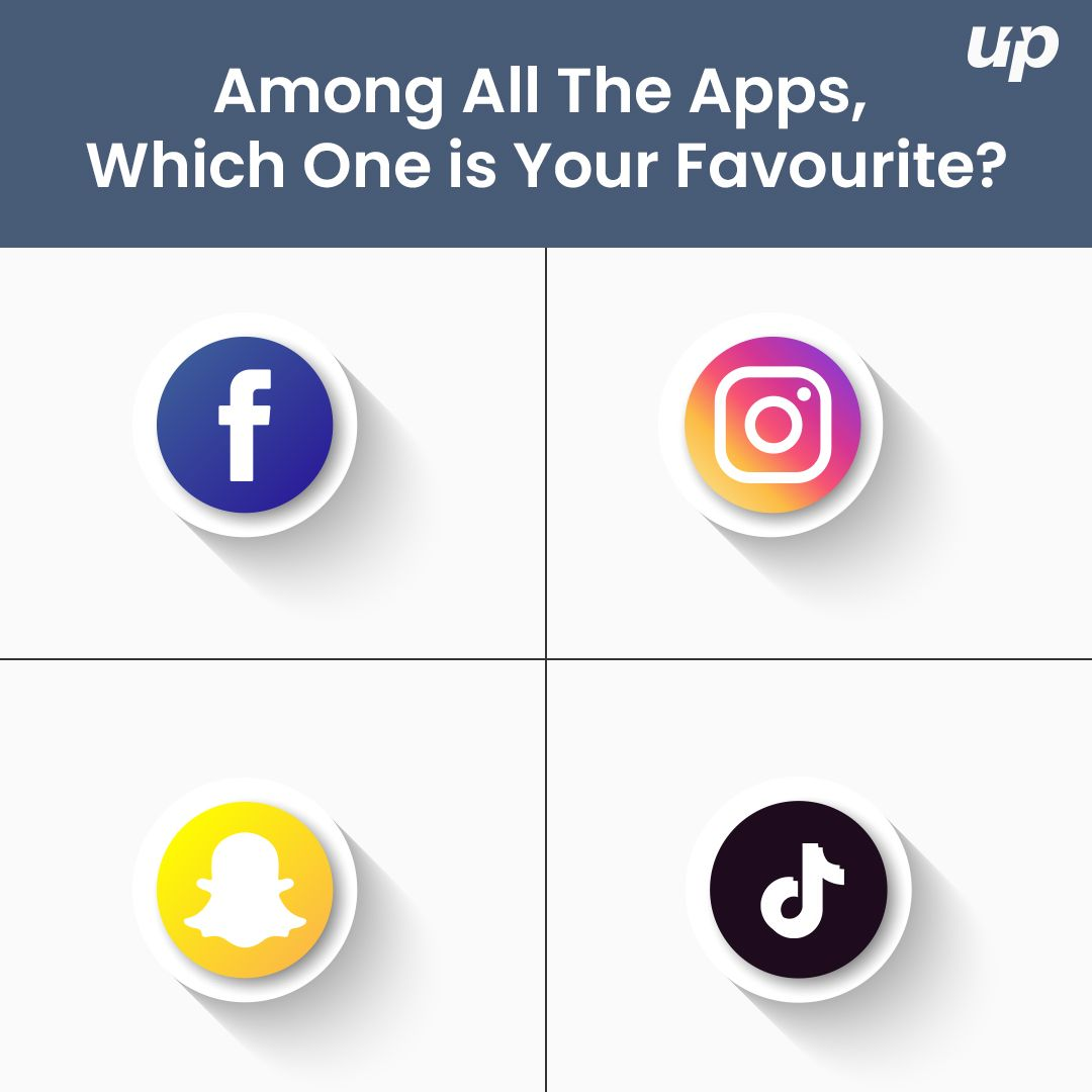 Which One Is Your Favourite Among These Famous Social Apps Facebook Tiktok Snapchat Facebook Fluper Which One Are You App Your Favorite